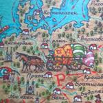 Часть карты Великого Шёлкового пути