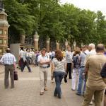 Очередь у входа в Михайловский сад