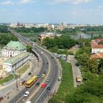 Вид на трассу W-Z в Варшаве